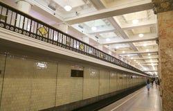 Metro station Komsomolskaya(Sokolnicheskaya Line) in Moscow, Russia Royalty Free Stock Images