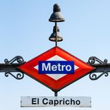 Metro station in Madrid Stock Photography