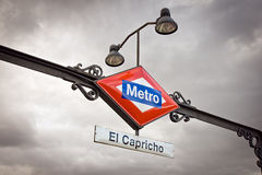 Metro station in Madrid Royalty Free Stock Photo