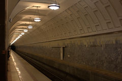 Markoskaja metro station in Moscow. A metro station in Moscow Royalty Free Stock Images