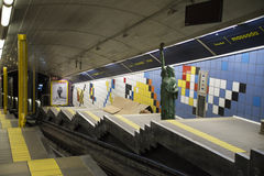 Metro station on Mount Carmel in Haifa Royalty Free Stock Image