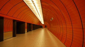 Metro station in Munich Royalty Free Stock Images