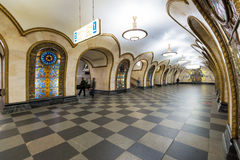 The metro station Novoslobodskaya in Moscow, Russia Stock Photos