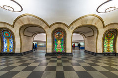 The metro station Novoslobodskaya in Moscow, Russia Stock Photo