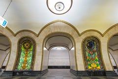 The metro station Novoslobodskaya in Moscow, Russia Stock Photo