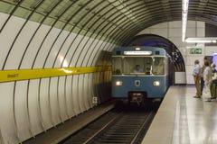 Metro station at Odeonsplatz in Munich, Germany, 2015 Stock Photo