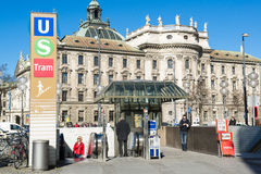 Metro Station and Palace of Justice Munich Royalty Free Stock Image