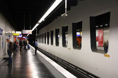 Metro station in Paris Royalty Free Stock Images