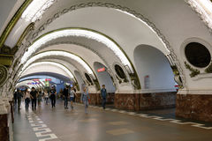 Metro station Ploshchad Vosstaniya in St. Petersburg, Russia Royalty Free Stock Photos