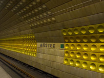 Metro station in Prague Royalty Free Stock Photos