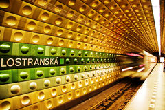 Metro station in Prague. Photograph of the Metro subway system of Prague,Czech Republic Royalty Free Stock Photos