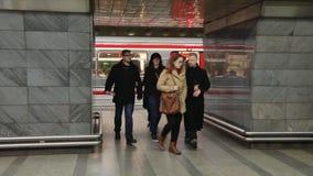 Metro station in prague stock footage