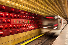 Metro station in Prague. Stock Photos