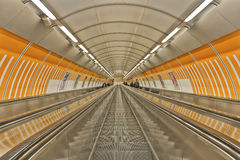 Prague subway station, Czech Republic Stock Photography
