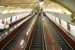 Metro station in Prague Royalty Free Stock Photography