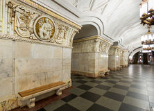 The metro station Prospekt Mira in Moscow, Russia Stock Photography