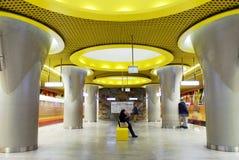 Metro Station. Metro, queue, subway station, subway passengers, public transport, platform metro, suburban train underground, a network of underground stock photo