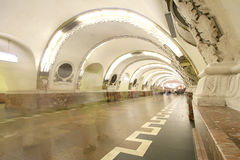 Metro station russia Royalty Free Stock Photography