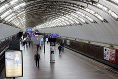 Metro station Sadovaya in St. Petersburg, Russia Stock Photography
