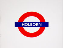 Metro station sign Holborn Royalty Free Stock Photography