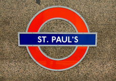 Metro station sign St. Paul Royalty Free Stock Image