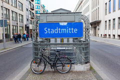 Metro station Stadtmitte in Berlin, Germany Royalty Free Stock Photography