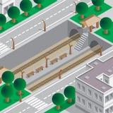 Metro-Station stock abbildung