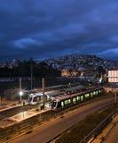 Metro station at sunrise. Royalty Free Stock Photography