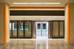 Metro Station and Train royalty free stock photos