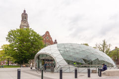 Metro station Triangeln at the Johannes church,  Malmo, Sweden Stock Photo