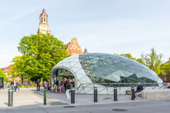 Metro station Triangeln in Malmo, Sweden Royalty Free Stock Image