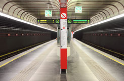 Metro station with two path Royalty Free Stock Photo