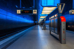 Metro station U4  Hamburg University Royalty Free Stock Images