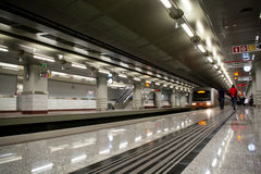 Metro Station. Underground Metro Station in Athens, Greece Stock Photography