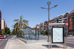 Metro-Station in Valencia, Spanien Stockfotos