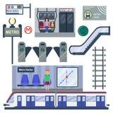 Metro station vector illustration. Stock Photos