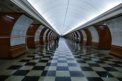 Metro Station - Victory Park, the interior. Moscow royalty free stock photo