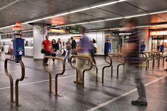 Metro station in Vienna Royalty Free Stock Photos