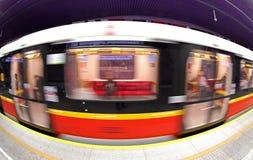 Metro station in Warsaw, Poland Royalty Free Stock Photo