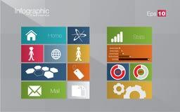 Metro stijl infographic concept Royalty-vrije Stock Foto's
