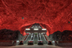 metro stockholm Royaltyfria Bilder