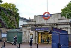 Metro stop in London