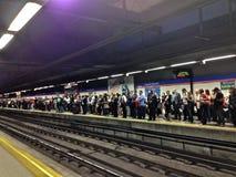 Metro-Streik Lizenzfreies Stockfoto