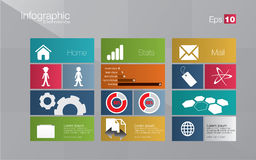 Metro style infographic concept Stock Images