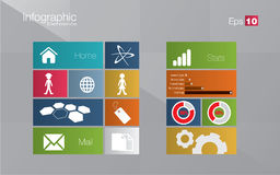 Metro style infographic concept Royalty Free Stock Photos