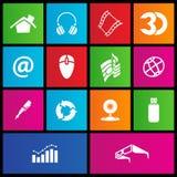 Metro style web icons Royalty Free Stock Image
