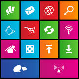 Metro style web icons Stock Image
