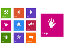 Metro style web icons set. New Metro style web icons set in vector format stock illustration