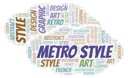 Metro Style word cloud. Wordcloud made with text only royalty free illustration