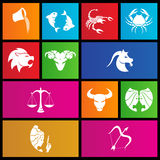 Metro style zodiac star signs. Vector illustration of metro style zodiac star signs Royalty Free Stock Photos